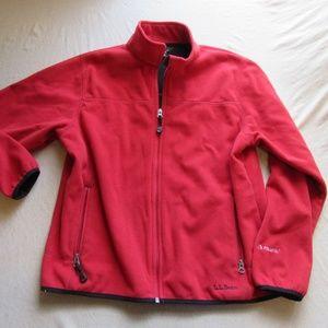 LL Bean Polartec Full Zip Fleece Jacket Sz M
